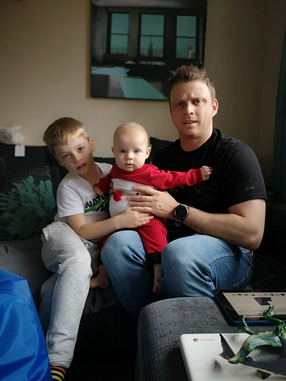 Senior Manager Chris Pestell withi his children